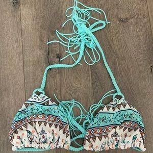 Roxy Tribal Braided Tassel Swim top